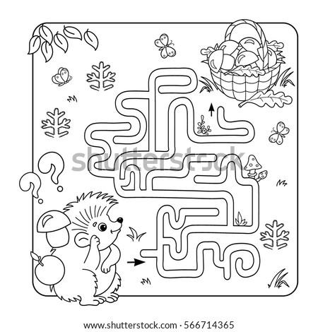 Cartoon Vector Illustration Education Maze Labyrinth Stock