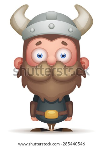 Cartoon Viking - stock vector