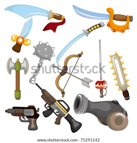 cartoon Weapon icon - stock vector