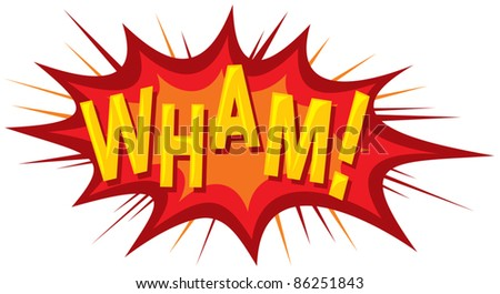 cartoon - wham (comic book) - stock vector