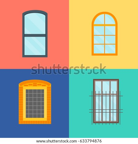 Window grill stock images royalty free images vectors for Window design cartoon