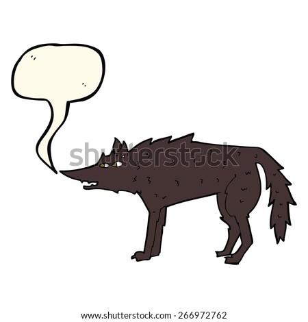 cartoon wolf - stock vector
