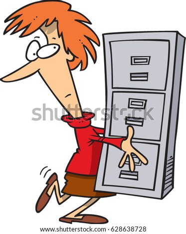 cartoon woman carrying a filing cabinet  sc 1 st  Shutterstock & Cartoon Woman Carrying Filing Cabinet Stock Vector (Royalty Free ...