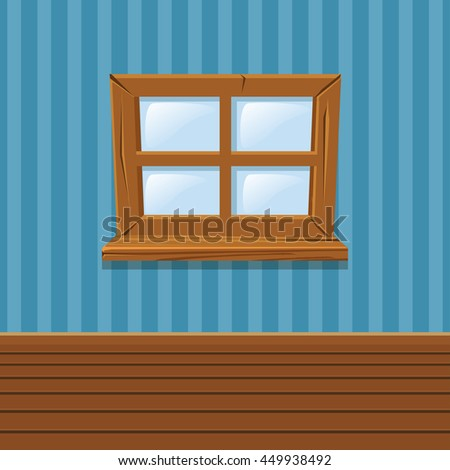Cartoon closed windows wooden stock images royalty free for Window design cartoon