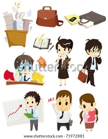 cartoon worker icon - stock vector