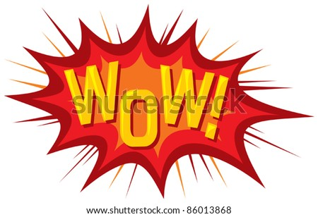 cartoon - wow (comic book) - stock vector