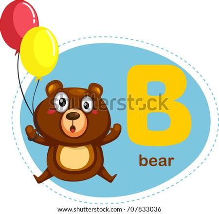 Cartoons alphabet letter e elephant stock vector 707836042 cartoons alphabet letter b is for bear thecheapjerseys Images