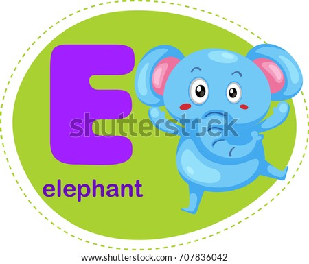 Cartoons alphabet letter e elephant stock vector 707836042 cartoons alphabet letter e is for elephant thecheapjerseys Gallery