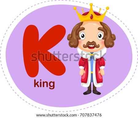 Cartoons alphabet letter e elephant stock vector 707836042 cartoons alphabet letter k is for king thecheapjerseys Images
