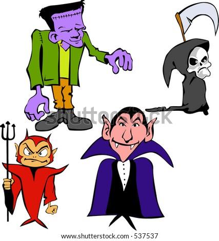 Cartoons caracters - stock vector