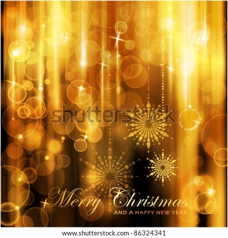 Cascades of lights with defocused lights and highlights background for your Christmas card. - stock vector