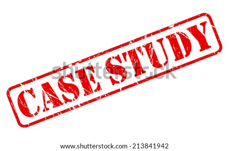 Case study red stamp text on white - stock vector