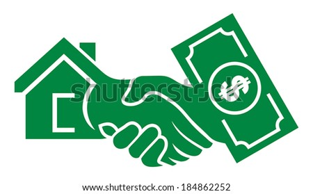 Cash For House - stock vector