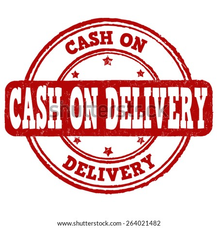 Cash on delivery grunge rubber stamp on white background, vector illustration