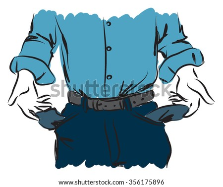 cash out businessman illustration - stock vector