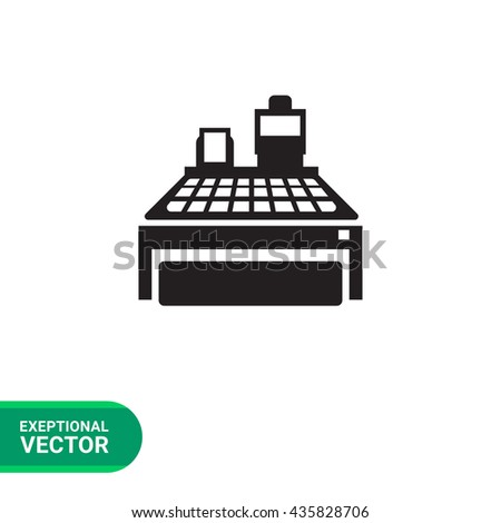 Cash register - stock vector