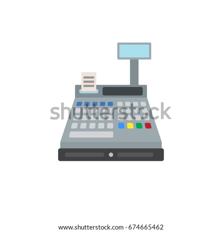 Cash Register Icon Stock Vector 332987351 - Shutterstock