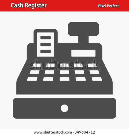 Cash Register Icon. Professional, pixel perfect icons optimized for both large and small resolutions. EPS 8 format.