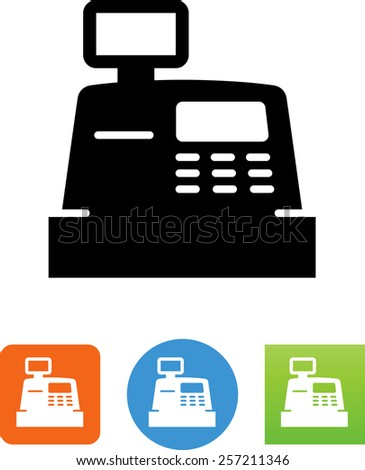Cash Register symbol for download. Vector icons for video, mobile apps, Web sites and print projects. - stock vector