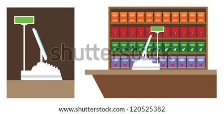 Cash register. vector - stock vector
