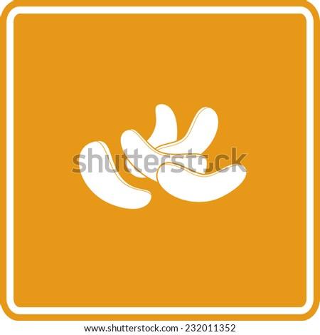 cashews sign - stock vector