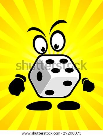 Casino abstract Cartoon dices - stock vector