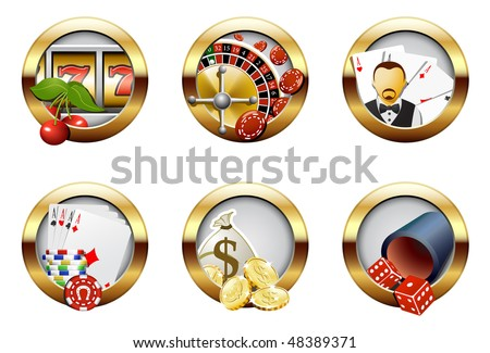 Casino and gambling buttons