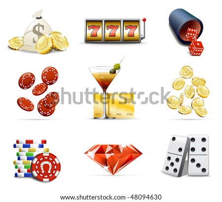 Casino and gambling icons, part 2 - stock vector