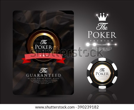Casino card collection-vintage style-poker-casino-vip - stock vector