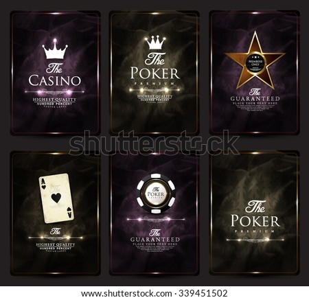 Casino card design collection-poker-casino-vip-ace - stock vector