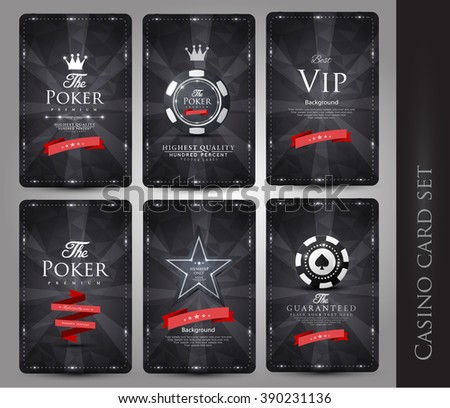 Casino card design collection-vintage style - stock vector