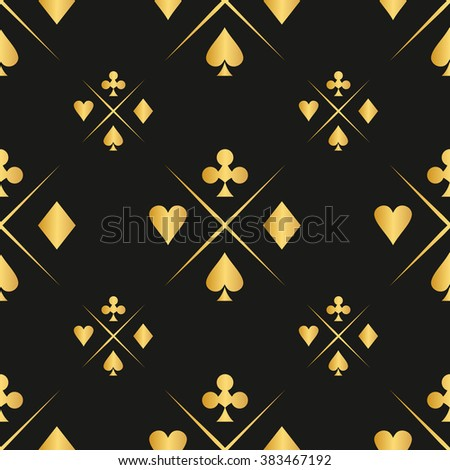 Casino  design elements vector icons. Casino games.Ace playing cards with chips on green background.Set of gambling chip. - stock vector