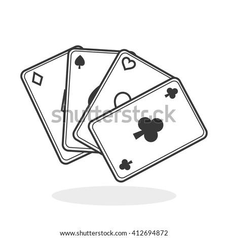 Casino design. Game and las vegas illustration