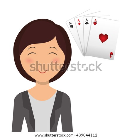 Casino design. Person and Game icon. Isolated illustration