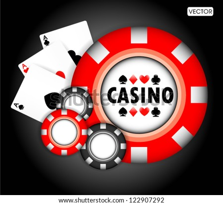 casino elements - stock vector