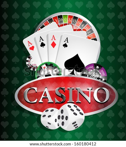 Casino 4 - four aces - stock vector