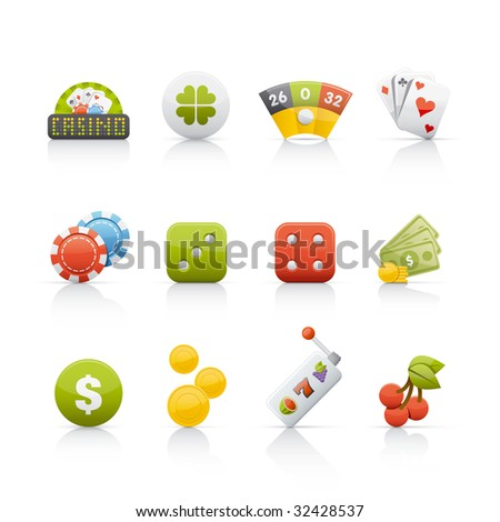 Casino Icon Set - stock vector