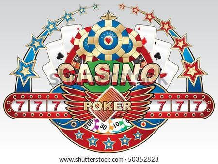 Casino illustration - stock vector