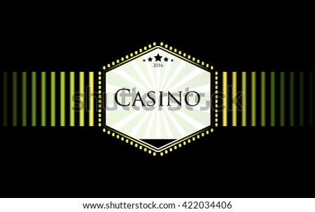 casino logo icon poker cards or game and money vector icons games banner with badges playing