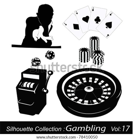 Casino roulette and gambling - stock vector