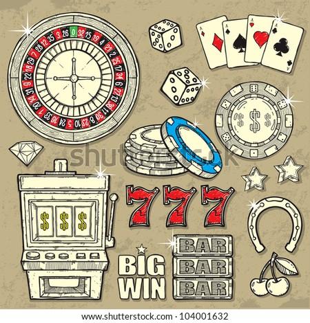 Casino Set - stock vector