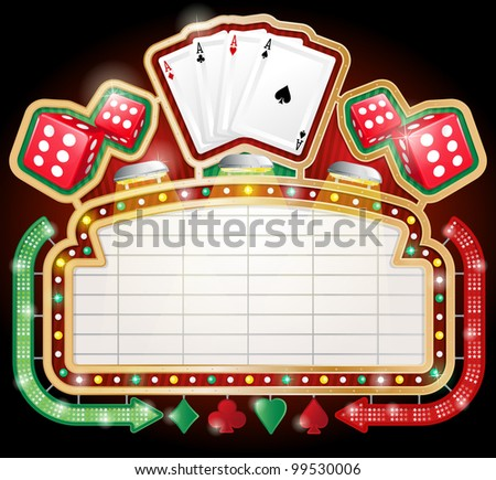 Casino Sign - stock vector