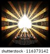 Casino vector background - stock photo