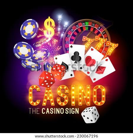 Casino vector illustration design. - stock vector