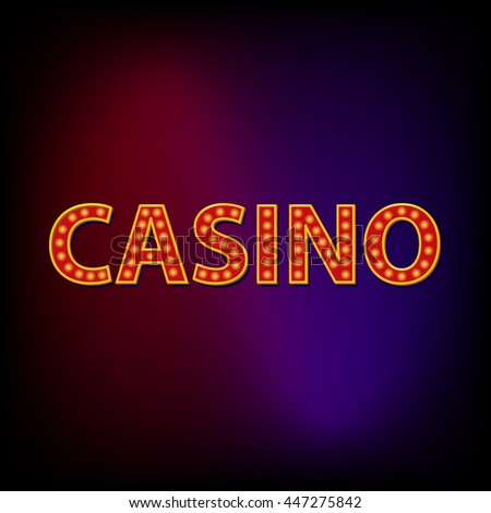 Casino word icon in cartoon style for any design - stock vector