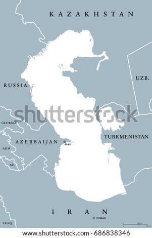 Turkmenistan region map stock images royalty free images caspian sea region political map with borders and countries body of water basin sciox Image collections