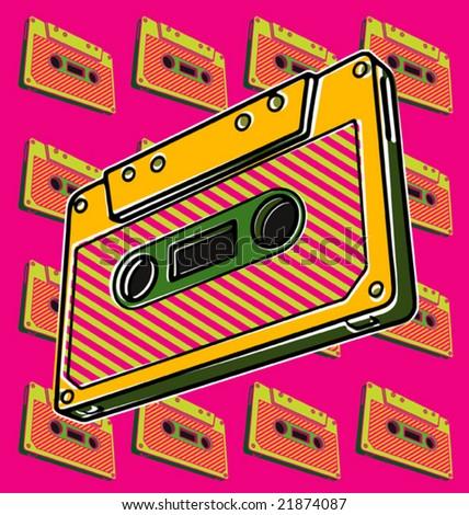 Cassette - stock vector