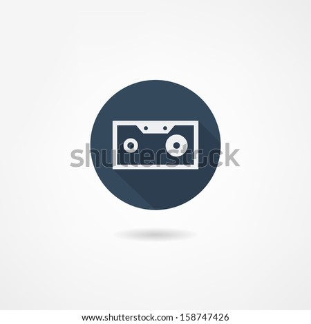 cassette icon - stock vector