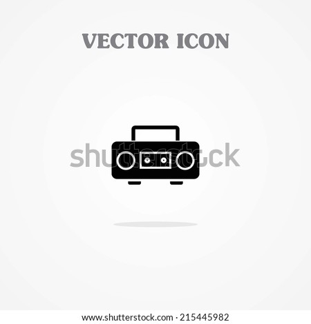 cassette player icon. Boom Box - stock vector
