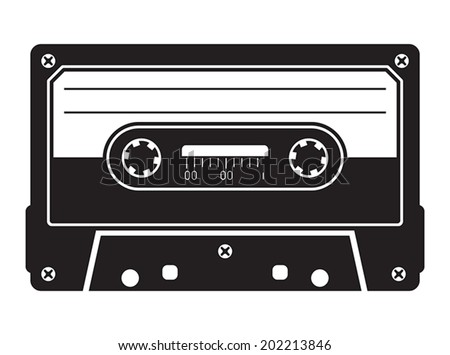 Cassette tape - stock vector
